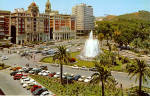 Malaga Spain Place Queipo de Llano Fountain and Gardens cs5802