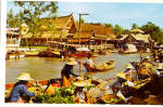 Click here to enlarge image and see more about item cs5823: Wat Sai Floating Market  Bangkok Thailand cs5823