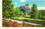 Click here to enlarge image and see more about item cs5845: Edinburgh Castle From The Gardens, Scotland