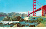 Click here to enlarge image and see more about item cs5862: Golden Gate Bridge CA Postcard cs5862