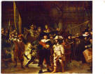 The NIght Watch Rembrandt Color Postcard cs5894