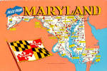 Click here to enlarge image and see more about item cs6130: State Map of Maryland