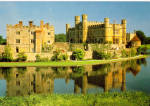 Click here to enlarge image and see more about item cs6195: Leeds Castle Maidstone Kent England Postcard cs6195