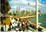 Ellis Island and New York Skyline
