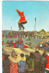 Click here to enlarge image and see more about item cs6323: Famous Native Sport Toss of Alaska