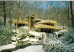 Click here to enlarge image and see more about item cs6410: Fallingwater Winter  Southwest Elevation