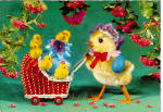 Click here to enlarge image and see more about item cs6586: Vrolijk Paasfeest Easter Postcard cs6586