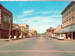 Click here to enlarge image and see more about item cs6600: Street Scene in Anacortes,WA Cars 1950s