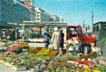 View of the Flower Market, Bergen, Norway