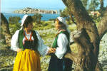 Click here to enlarge image and see more about item cs6652: Primosten Croatia Women in Native Costume cs6652