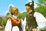 Click here to enlarge image and see more about item cs6672: Man and Woman in Native Dress Solvenia cs6672