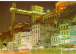 Click here to enlarge image and see more about item cs6680: Nocturnal View of Lacerde Elevator, Brasil