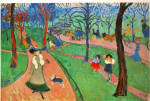 Click here to enlarge image and see more about item cs6686: Hyde Park 1906 by Andre Derain Postcard cs6686