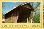 Click here to enlarge image and see more about item cs6805: Covered Bridge Sautee Valley Georgia Postcard cs6805