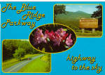 Click here to enlarge image and see more about item cs6809: Blue Ridge Parkway Highway to the Sky Postcard cs6809