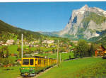Passenger Train in Grindelwald, Switzerland
