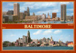 Click here to enlarge image and see more about item cs6899: Baltimore MD Harbor Now and in 1950s cs6899