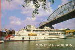 The General Jackson Paddlewheeler Heading Up River