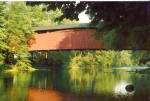 Stillwater PA Covered Bridge over Fishing Creek Postcard cs6962