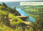 Click here to enlarge image and see more about item cs6964: Wyalusing Rocks  Central Pennsylvania Postcard cs6964