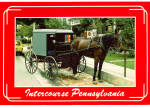 Amish Carriage at Hitching Post,Intercourse, PA