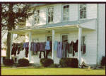 Amish Home with Clothesline on Porch Postcard cs7016