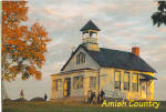 Amish One Room Schoolhouse Postcard cs7020