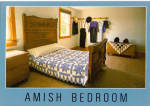 Amish Bedroom With Quilt Postcard cs7039