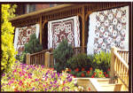 Amish Home with Quilts on Porch Postcard cs7045