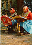 Click here to enlarge image and see more about item cs7076: Women in Native Costume in Belgium Postcard cs7076