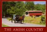Covered Bridge and Amish Buggy Pennsylvania Postcard cs7083
