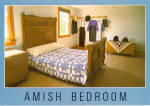 Quilt in Amish Bedroom Postcard cs7128