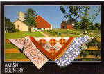 Amish Quilt Display on Farm Fence