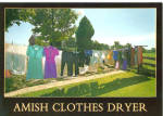 Amish Clothes Dryer Postcard cs7153