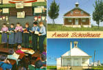 Amish Schoolhouse Postcard cs7154