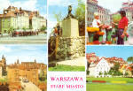 Click here to enlarge image and see more about item cs7251: Five Views of Warsaw, Poland