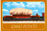 Click here to enlarge image and see more about item cs7329: Idaho Russet Potato Going to Market on Flatcar