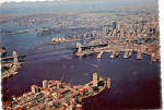 Click here to enlarge image and see more about item cs7444: Aerial View of Sydney Harbor NSW Australia cs7444