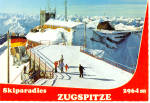 Click here to enlarge image and see more about item cs7461: Ski Paradise, Zugspitzbahn, Gipfel Station at Mountain Top