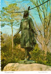 Click here to enlarge image and see more about item cs7486: Pocahontas Statue,  Jamestown, Virginia
