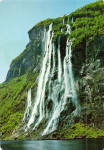 Click here to enlarge image and see more about item cs7492: The Seven Sisters Waterfalls Geirangerfjord Norway cs7492