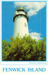 Click here to enlarge image and see more about item cs7505: Fenwick Lighthouse Fenwick Island Delaware cs7505
