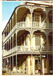 Click here to enlarge image and see more about item cs7619: Lace Balconies Royal and St Peter Streets New Orleans LA cs7619