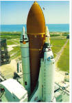 Click here to enlarge image and see more about item cs7759: Space Shuttle Discovery Near Pad A cs7759