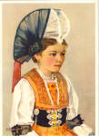 Click here to enlarge image and see more about item cs7792: Woman in Native Dress of Switzerland cs7792