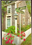 Click here to enlarge image and see more about item cs7794: Cape Cod Street Corner Brewster Massachusetts cs7794
