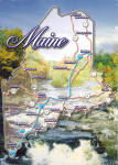 Click here to enlarge image and see more about item cs7798: Maine State Map Postcard