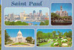 St Paul and State Capitol of Minnesota cs7806