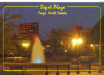 Night Scene, Depot Plaza, Fargo, North Dakota