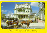 Victorian Home and Horse Drawn Carriage at Cape May, New Jersey